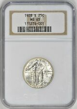 1928-S 25c Standing Liberty Quarter, NGC MS 65, Lots of Luster!