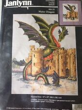 Water Dragon counted cross stitch kit Janlynn sealed #06-25