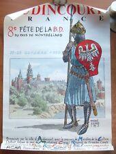 AFFICHE ANDRE JUILLARD - FETE DE LA B.D. AUDINCOURT -1990- 50 X 72 CM. ENV. TUBE