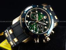 Invicta Men's 48mm Hunter Green Scuba Pro Diver Swiss Chrono 18K Gold IPSS Watch