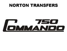 Norton Commando 750 Side Panel Transfers and Decals Motorcycle D50202 Black