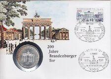 BRD Numisbrief 10 DM Brandenburger Tor 1991