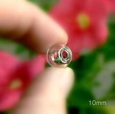 10 glass MINI GLOBE vials with hole (miniature/ balls/globes/bottles/ornaments)