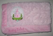 Disney Baby Pink Blanket I Believe in Fairy Tales Castle Plush Security 28x28""