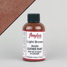 ANGELUS acrilica Vernice in Pelle Marrone Chiaro 4oz (118ml) bottiglia resistente all'acqua