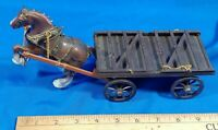 1960s Plastic Toy Horse Wagon Clydesdale Beer no 516 Hong Kong Chain Model