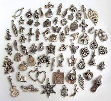 70 Breloques _ LOT MIX DIVERS arg. de 11 à 29 mm _ Perles charms création bijoux