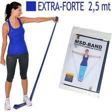 Msd FASCIA ELASTICA BLU 2,5 mt EXTRA FORTE Allenamento Medio-Alto Banda Fitness