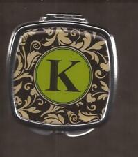 Letter K Compact Hand Vanity Pocket Mirror Brand New [15350] OoP by Spoontiques