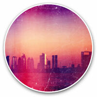 2 x Vinyl Stickers 10cm - Cool Distressed Summer City Cool Gift #12870