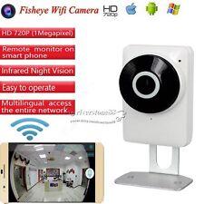 185° Full Vision Fisheye HD 720P P2P Wireless WIFI IP Camera CCTV Network Night