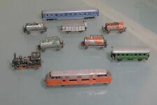 Minitrix Schiebetrix - Set mit 9 Modellen - V200 T3 und 7 Anhänger - sehr selten