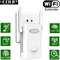 EDUP AC1200 Dual Band Wifi Repeater&Router,2.4G&5G Wireless-N Range Extender