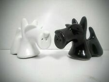 Scotty Dog Salt and Pepper Shakers in  White and Black Scottish Terrier