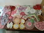 vintage+crocheted+doilies+Lot+Of+21+Colors+%2352
