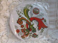 Vintage Bergrenn-Trayner Rosemaled Round Trivet Tile - New Old Stock