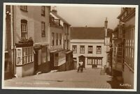 Postcard Lymington New Forest Hampshire early view of Quay Hill shops RP