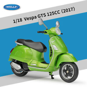 23Types WELLY 1/18 VESPA 946 Scooter Battery Car Alloy Model Kids Gift 11CM Deco