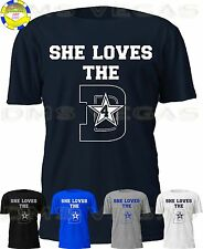 777d3f0aa Dallas Cowboys She Loves The D 4 Dak Prescott Jersey Tee Shirt Men Size S-