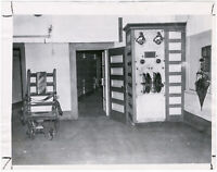 Elektrischer Stuhl, Charlestown State Prison, Boston, Orig. Presse-Photo v. 1957