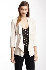 NWT $288 FRENCH CONNECTION WOMENS CONNIE CREPE JACKET Sz 12 Beige