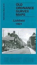 OLD ORDNANCE SURVEY MAP LICHFIELD 1921