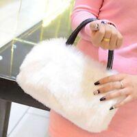 New Lady Girl Messenger Bag Women Faux Rabbit Fur Tote Purse Handbag Shoulder