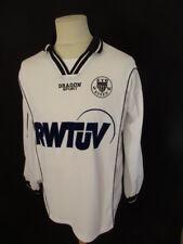Camiseta de fútbol vintage usado Nº9 Schwarz-Weiss Essen Talla L En Blanco