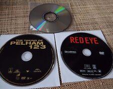 4 DVD Lot : Red Eye 2005 - Taking of Pelham 123 - Passenger 57 - Boiling Point