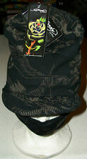 Ed Hardy Snow hat cap Ski Board winter face mask earphone pocket Geisha Xmas new