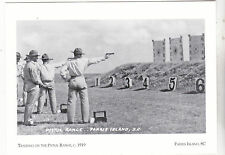 "~Post Card~""Training On Pistol Range, 1919"" @ *Parris Island, Sc (#147)"