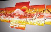 QUADRO-tramonto-paesaggio Giapponese-160X60-etnico fatto a mano-pintura-peintura