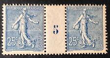 Timbre France, n°132, 25c Bleu, xx, TB mill 5, cote 590e.