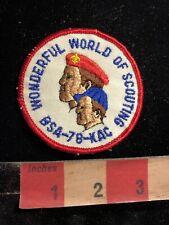 Vtg 1978 WONDERFUL WORLD OF SCOUTING BSA-78-KAC Boy Scouts Patch 99RD
