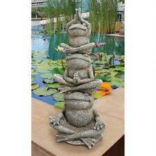 Lotus Position Yoga Frog Totem Sculpture Meditation Zen Garden Statue