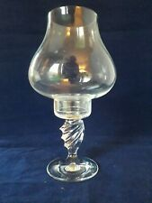 Glass 2 piece hurricane candle tea light holder (12g)