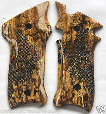 RUGER MKII & MKIII GRIPS WITH EAGLE WINGS SPALTED BRAZILIAN CHERRY R-7 NICE!!!