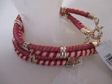 Gap Striped Doube rwo Gold Link Bracelet NWT $14.95 each LOT OF 5 PINK