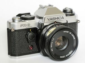 Yashica FX-D FULLY SERVICED + Yashica 50mm f/2 lens + Mitakon 28-200 zoom