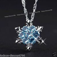 BLACK FRIDAY DEALS - Snowflake Blue Crystal Diamond Necklace Xmas Gifts For Her