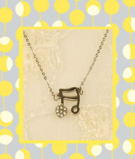 """CC20180 - Eye catching """"silver"""" pendant with a music symbol"""