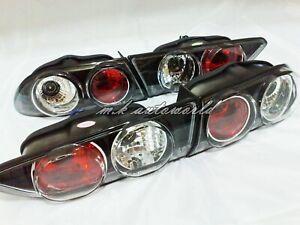 1997-2003 Alfa Romeo 156 Sedan Crystal Tail Lights Rear Lamps Glass BLACK