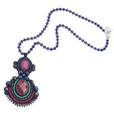 Collana lunga Ottaviani Bijoux con pietre blu rosse e turchesi, cristalli 480264