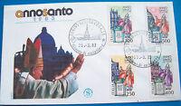 1983 BUSTA PRIMO GIORNO ANNO SANTO. GIOVANNI PAOLO II°. FDC