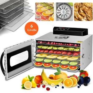 6-Vassoio Essiccatore Frutta Food Disidratatore Frutta Verdura Idroestrattore