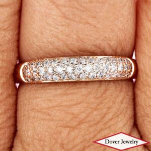 Estate Diamond 18K Rose Gold Lovely Band Ring NR