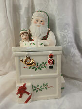 LENOX PORCELAIN SANTA'S WORKBENCH COOKIE JAR HOLIDAY TOY SHOP