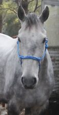 Handcrafted Full Rope Halter Blue - Horse Riding, Headstall, Equestrian
