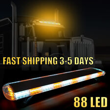 "47"" 88 LED Strobe Light Bar Amber White Emergency Beacon Warn Tow Truck Response"