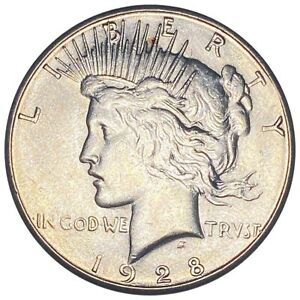 1928-S Silver Peace Dollar, Beautiful Features $1 San Francisco Mint Coin NR!